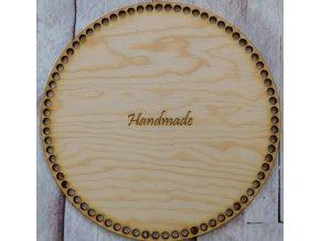 dno k háčkování kruh 25 cm nápis handmade