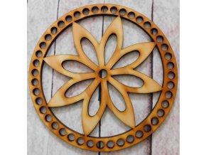 dno k háčkování kruh květ 1