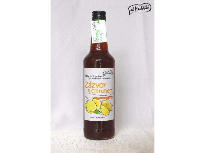 Sirup slazený třtinovým cukrem Zázvor s citronem