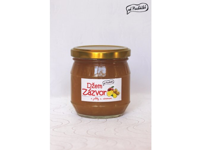 Džem Zázvor s jablky a citronem 200 g Od Macháčků