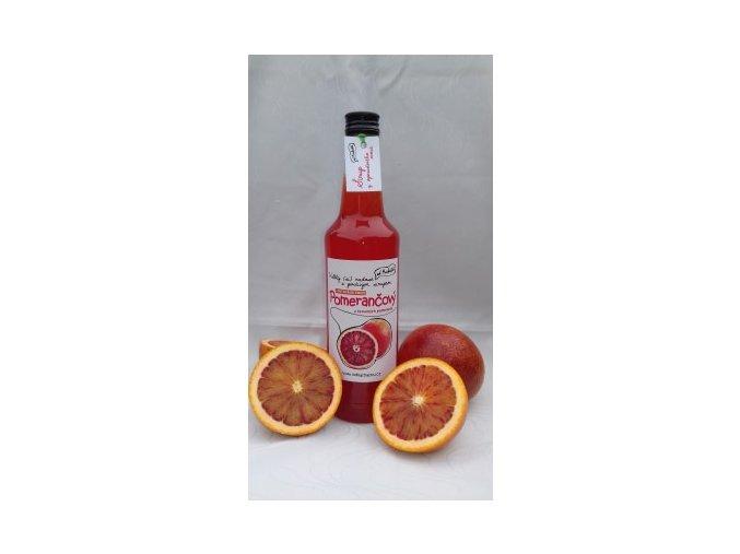 červený pomeranč sirup