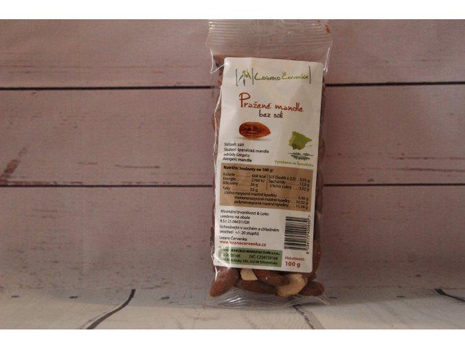 Pražené mandle 100g ( bez soli)