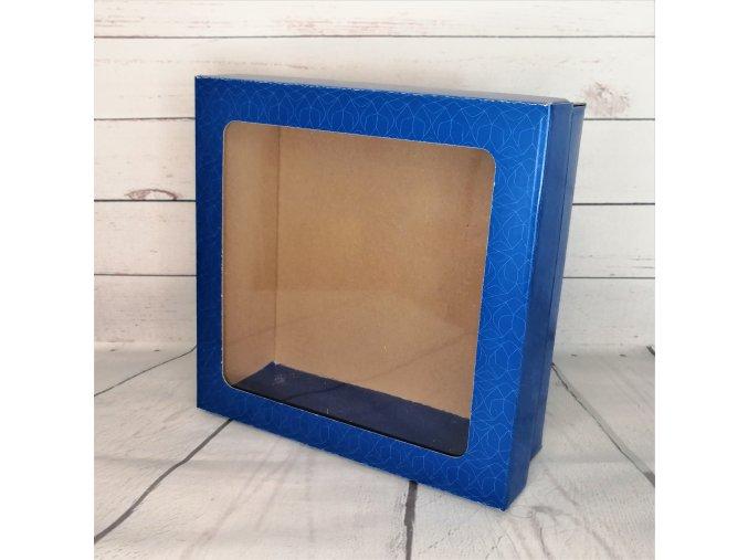 Krabice kartonová s okem malá - modrá