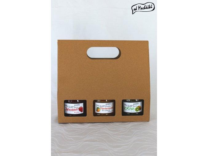 Trojbalení džemíků a marmeládek dle vlastního výběru