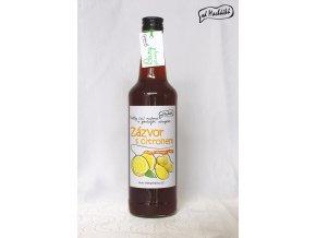 Sirup slazený třtinovým cukrem Zázvor s citronem 500 ml Od Macháčků
