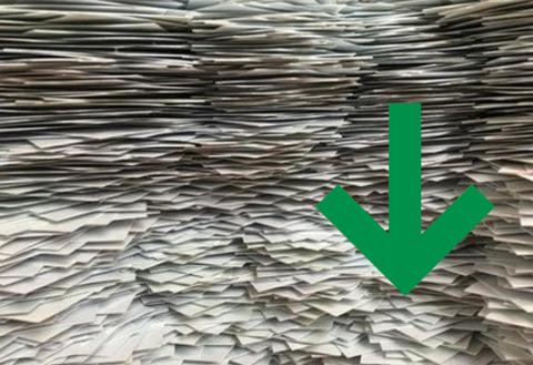 Od 1/2020 papír odvážíme za minimální cenu blížící se nule