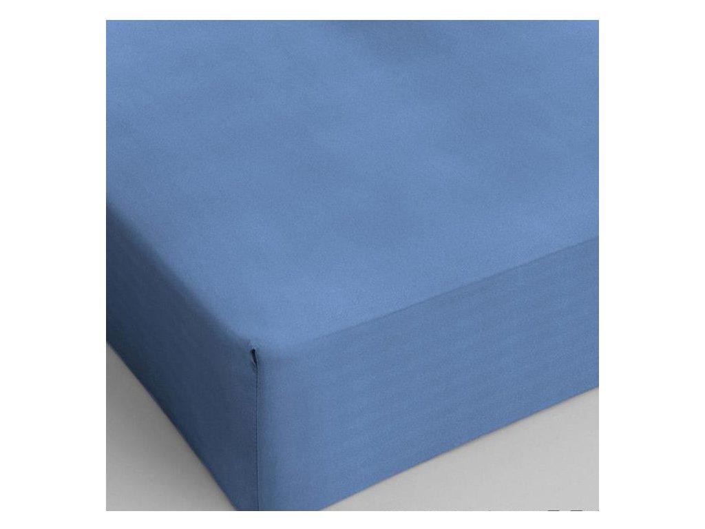 Bavlněné prostěradlo modrá 160x200