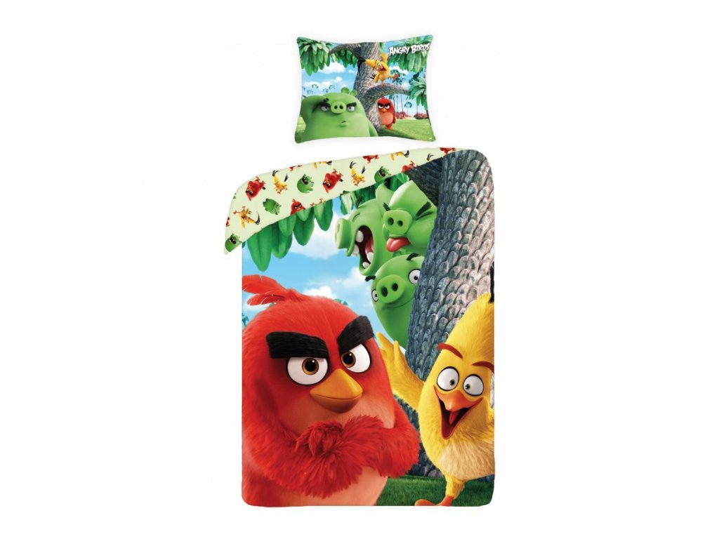 Povlečení Angry Birds ABM-1166 140x200cm, 70x90cm