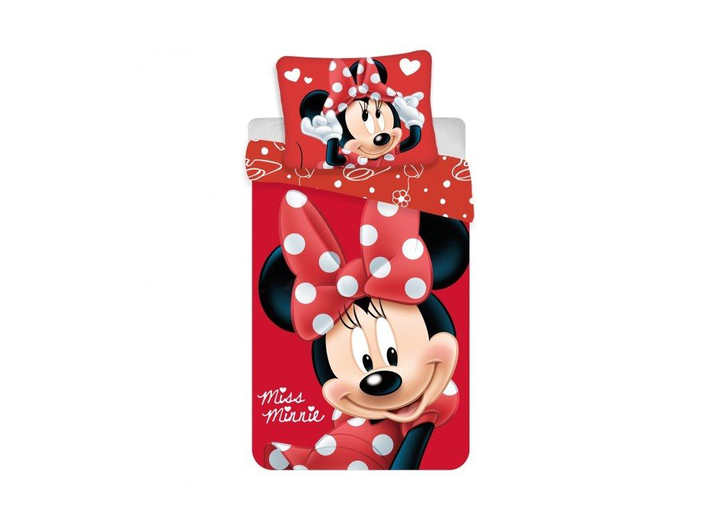 """Povlečení Minnie """"Big Red micro"""" 140x200, 70x90"""