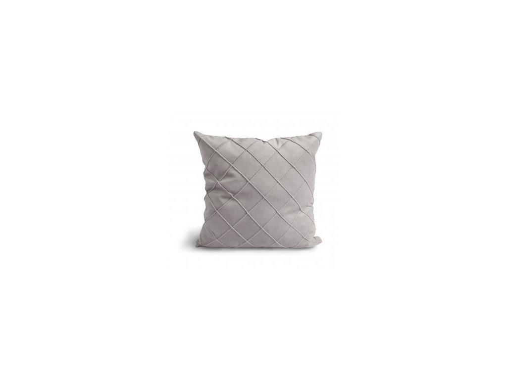 Povlak na polštář Velvet Cushion Light grey 47x47