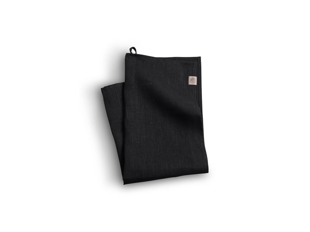 Lovely Linen kuchyňská utěrka 50X70 BLACK