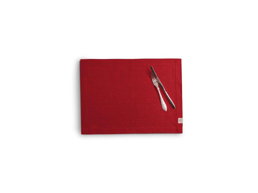 Lovely Linen prostírání 37X50 RED SINGLE