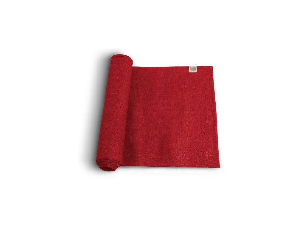 Lovely Linen stolní běžec 47x150 RED SINGLE