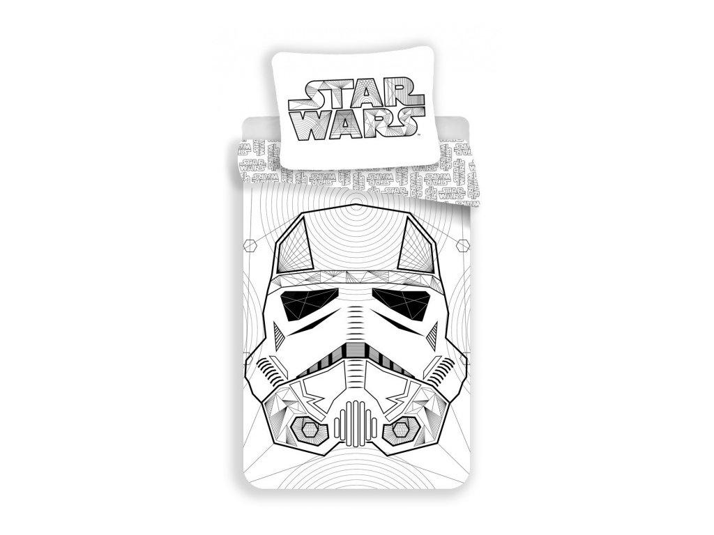 Povlečení Star Wars White 140x200, 70x90 cm