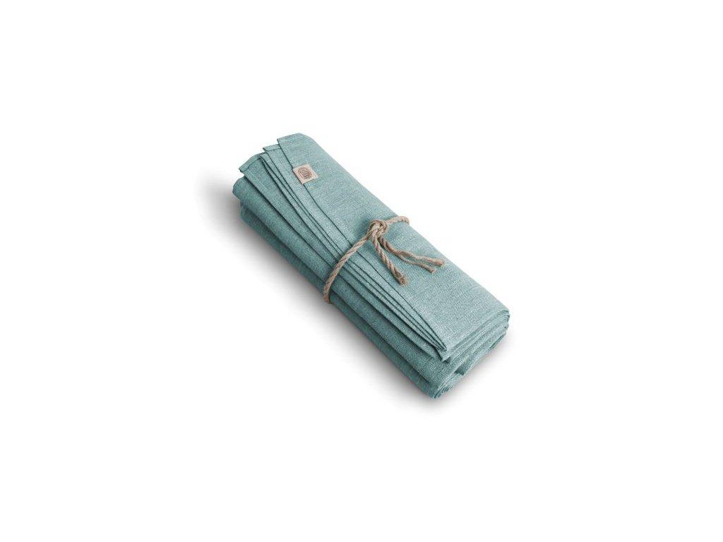 Lněný ubrus CLASSIC Ø150 ICE BLUE