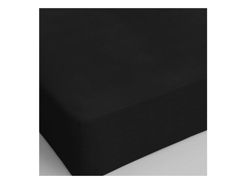 Bavlněné prostěradlo černá 80x200