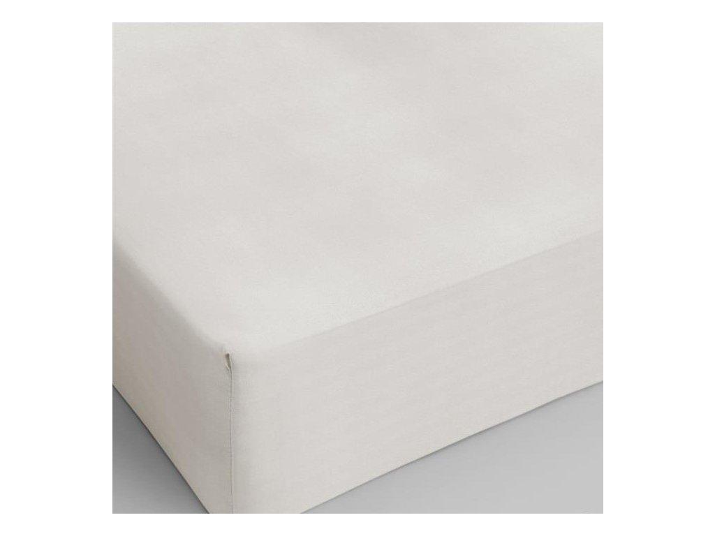 Bavlněné prostěradlo krémová 160x200