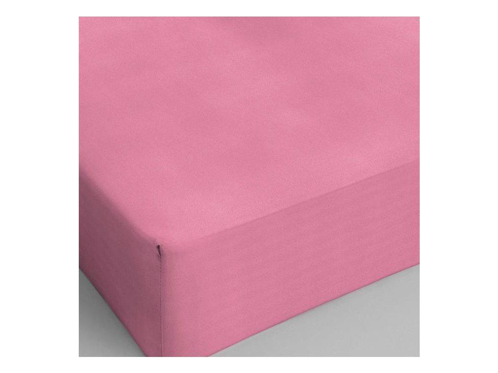 Bavlněné prostěradlo růžová 160x200
