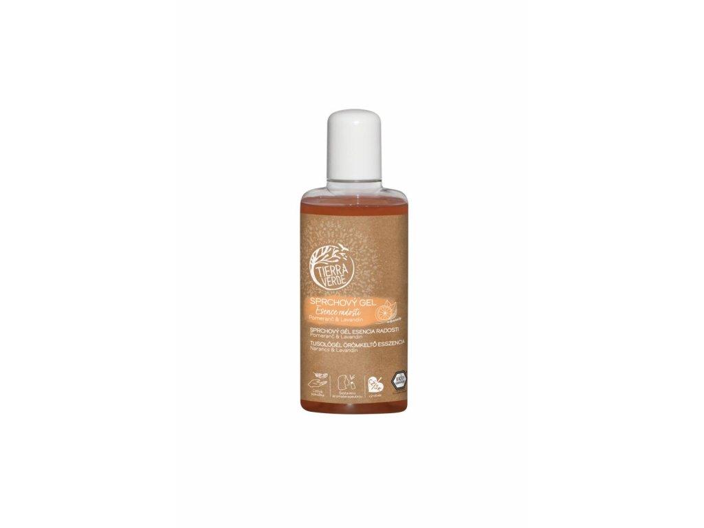 Sprchový gel Esence radosti – Pomeranč & Lavandin