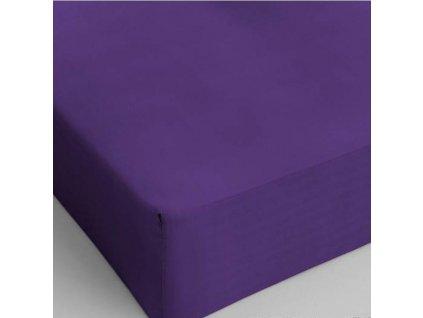 Bavlněné prostěradlo fialová 80x200