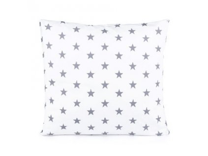 Povlak na polštář Hvězdička šedá na bílém 50x50