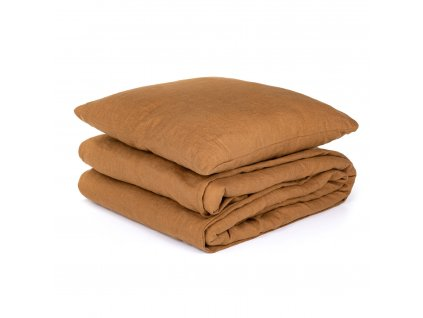 Lněné povlečení Cinnamon 140x200, 70x50