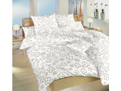Povlečení bavlna Čtyřlístek opál 140x200, 70x90 cm