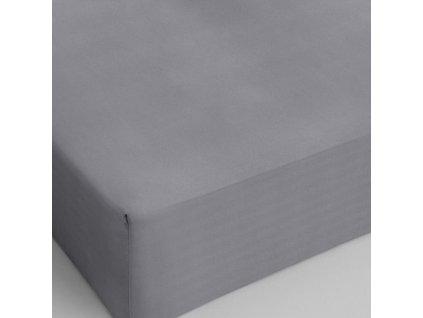 Bavlněné prostěradlo šedá 160x200