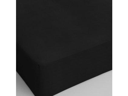 Bavlněné prostěradlo černá 160x200