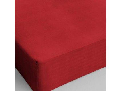 Bavlněné prostěradlo červená 160x200