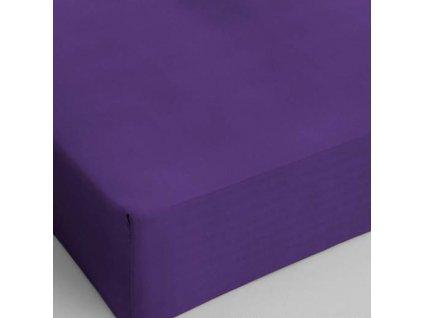 Bavlněné prostěradlo fialová 160x200