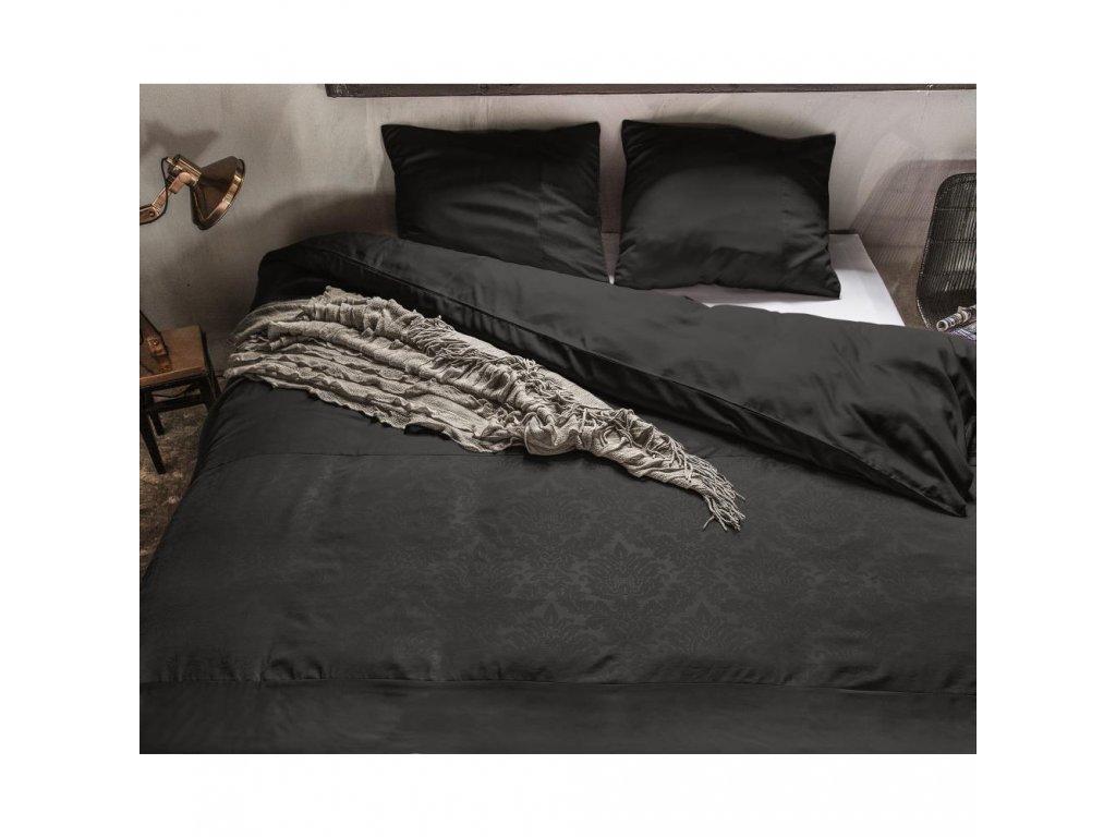 Obliečky Brussel čierna 140x220, 60x70 cm