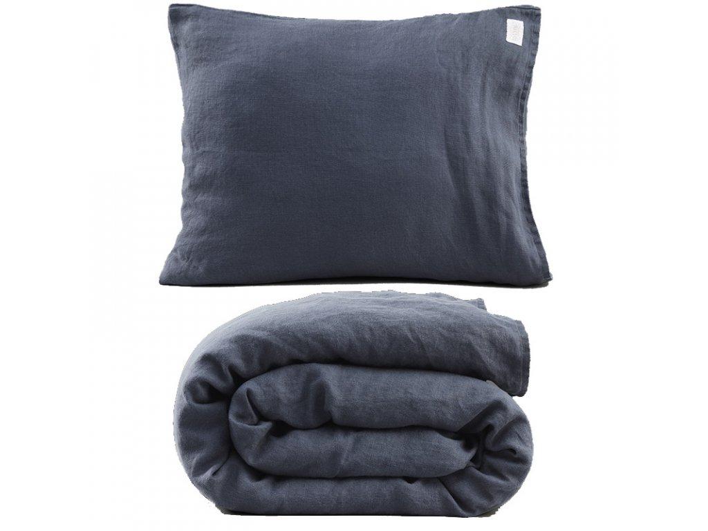 Ľanové obliečky 150x210, denim blue