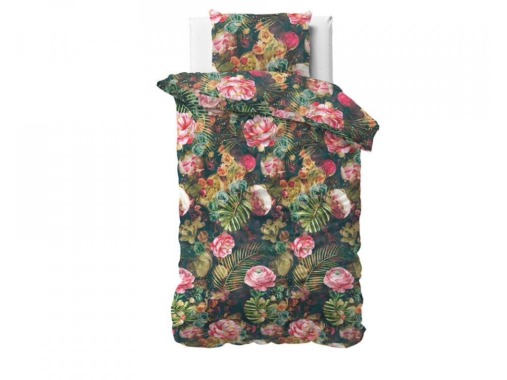 Obliečky z bavlneného saténu Levine Multi 140x200/220, 60x70