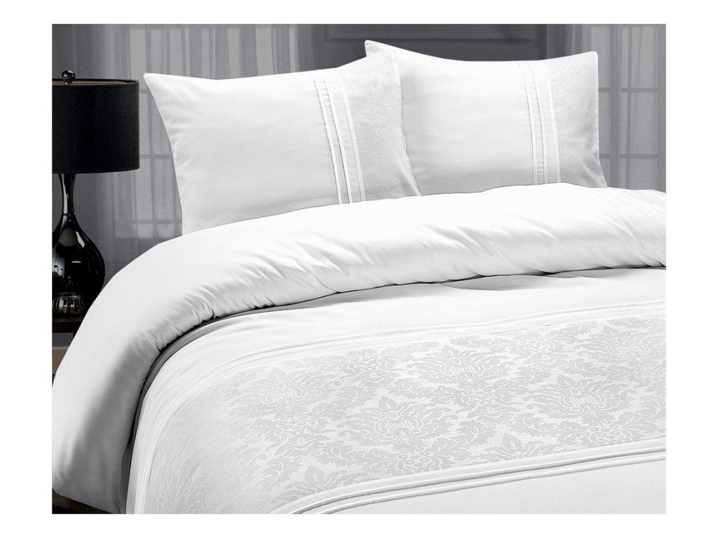 Obliečky Bruselská bavlna biela 200x220, 60x70 cm
