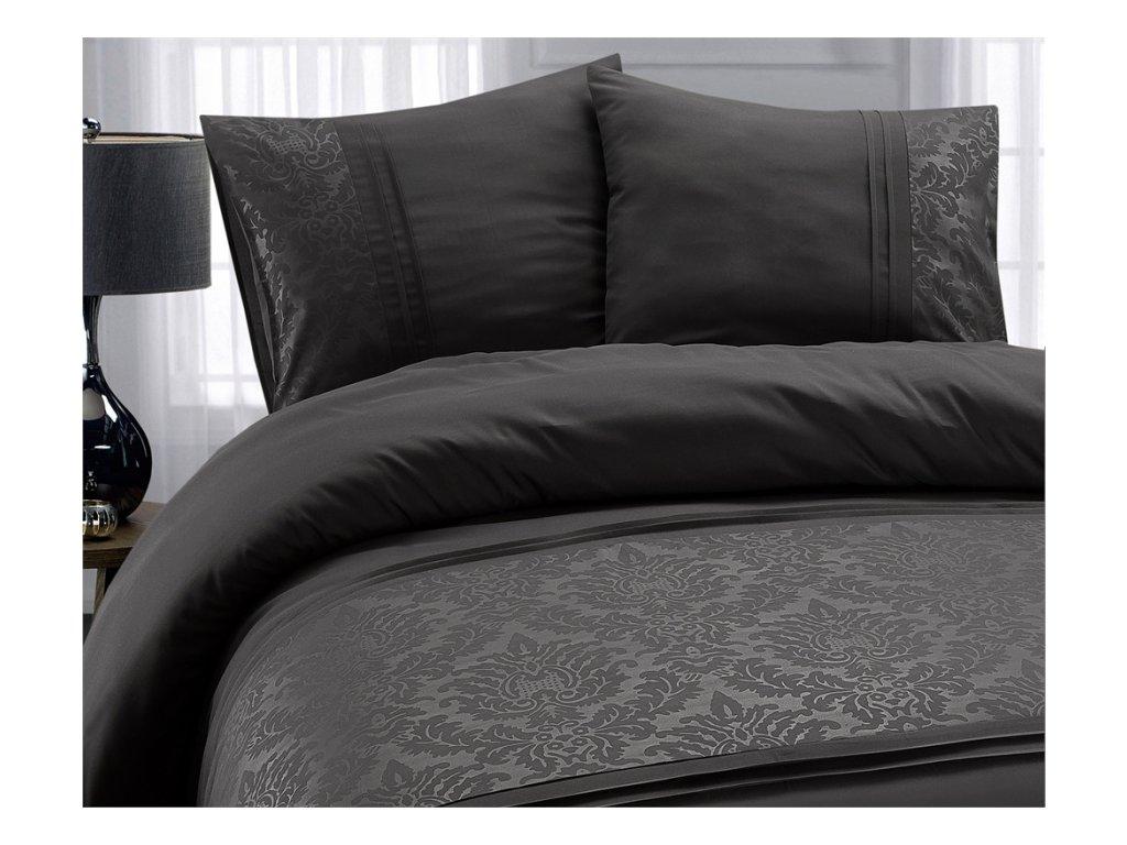 Obliečky Bruselská bavlna sivá 200x220, 60x70 cm