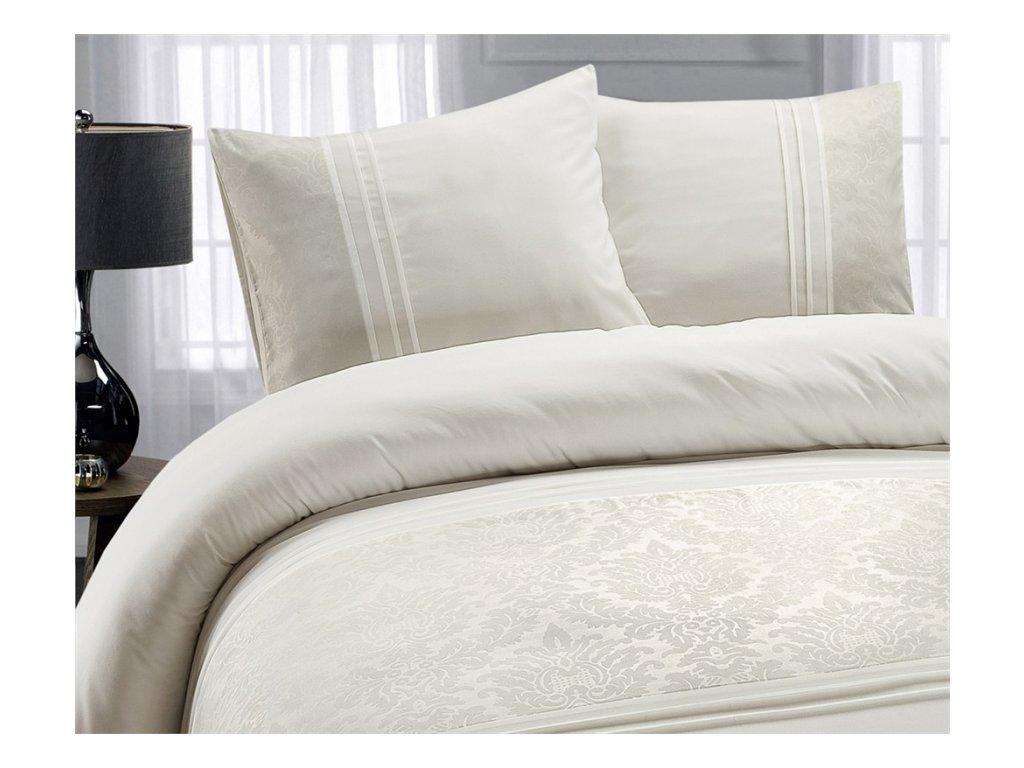 Obliečky Bruselská bavlna krémová 200x220, 60x70 cm
