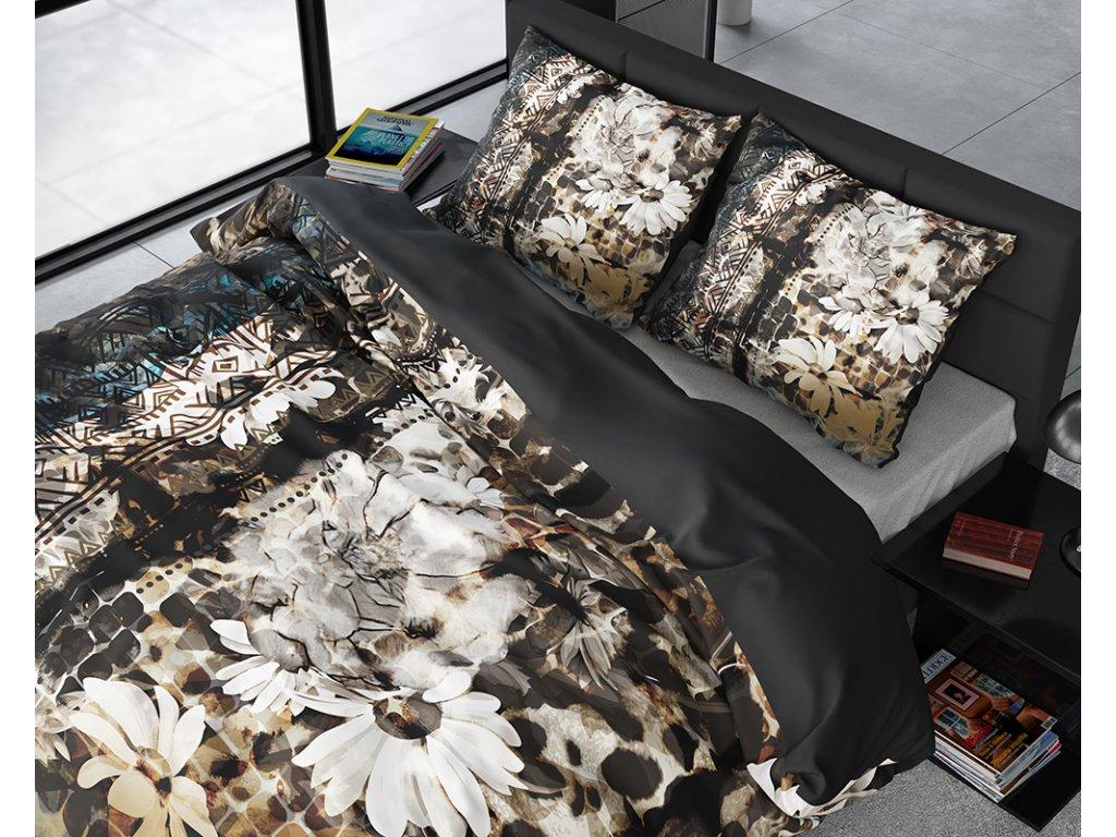 Obliečky z bavlneného saténu Aluna Multi 200x220, 60x70