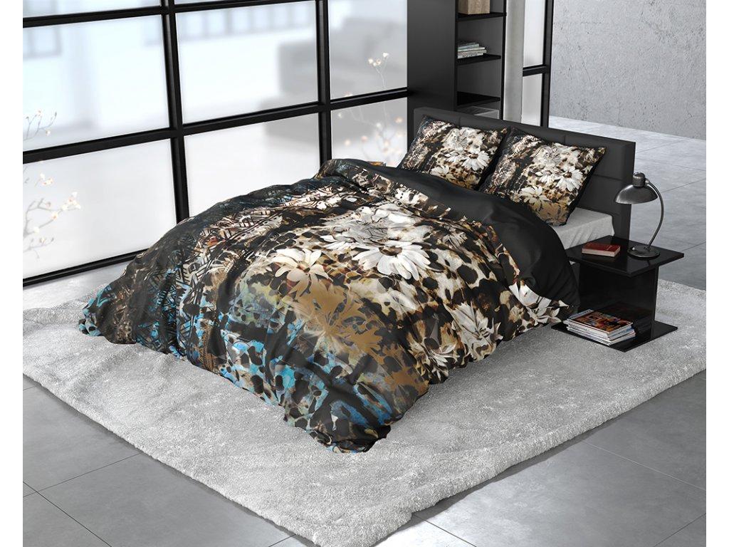 Obliečky z bavlneného saténu Aluna Multi 140x200/220, 60x70