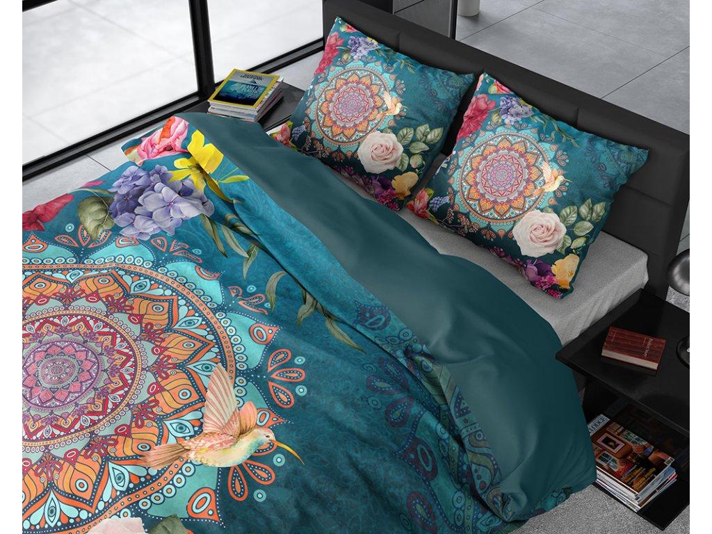 Obliečky z bavlneného saténu Dalila Multi 200x220, 60x70