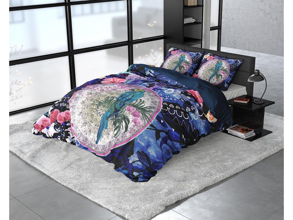 Obliečky z bavlneného saténu Diara Multi 140x200/220, 60x70