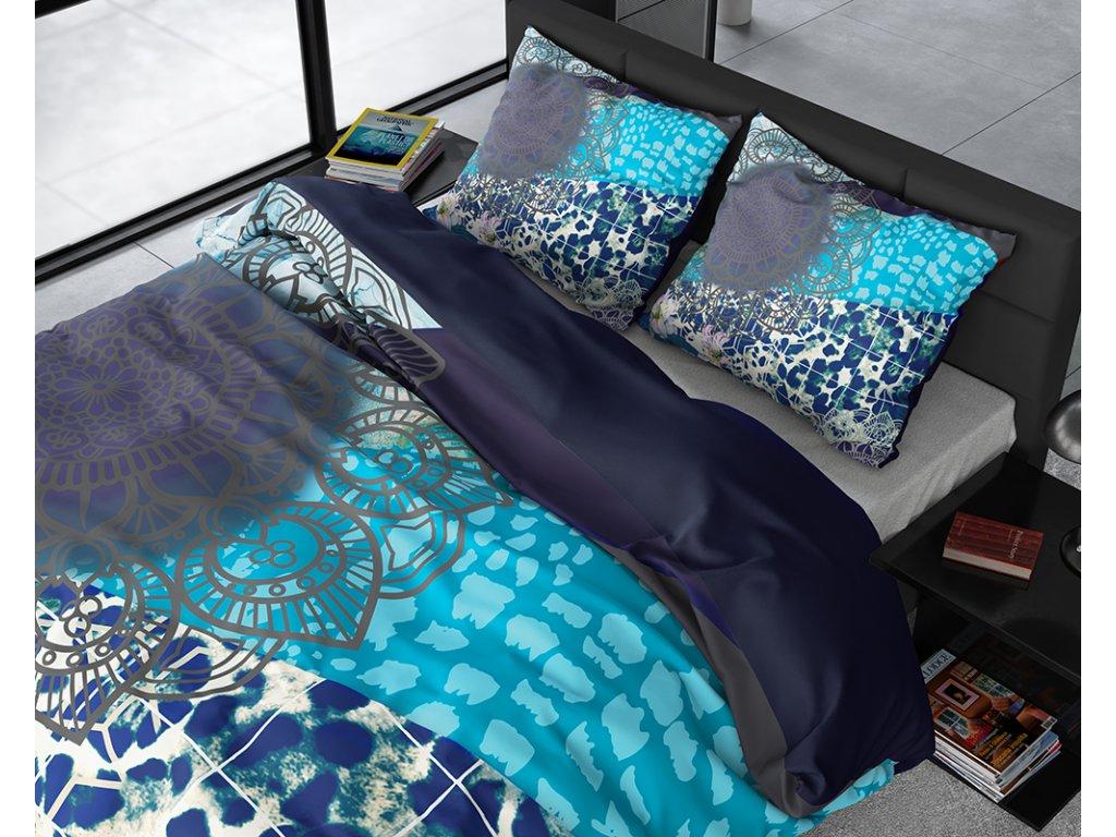 Obliečky z bavlneného saténu Imara Multi 200x220, 60x70
