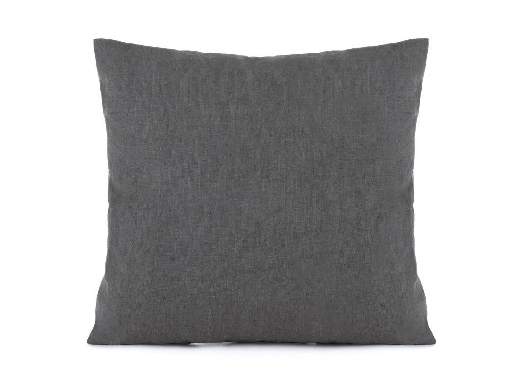 Ľanové obliečky Dark Grey 140x200,50x70