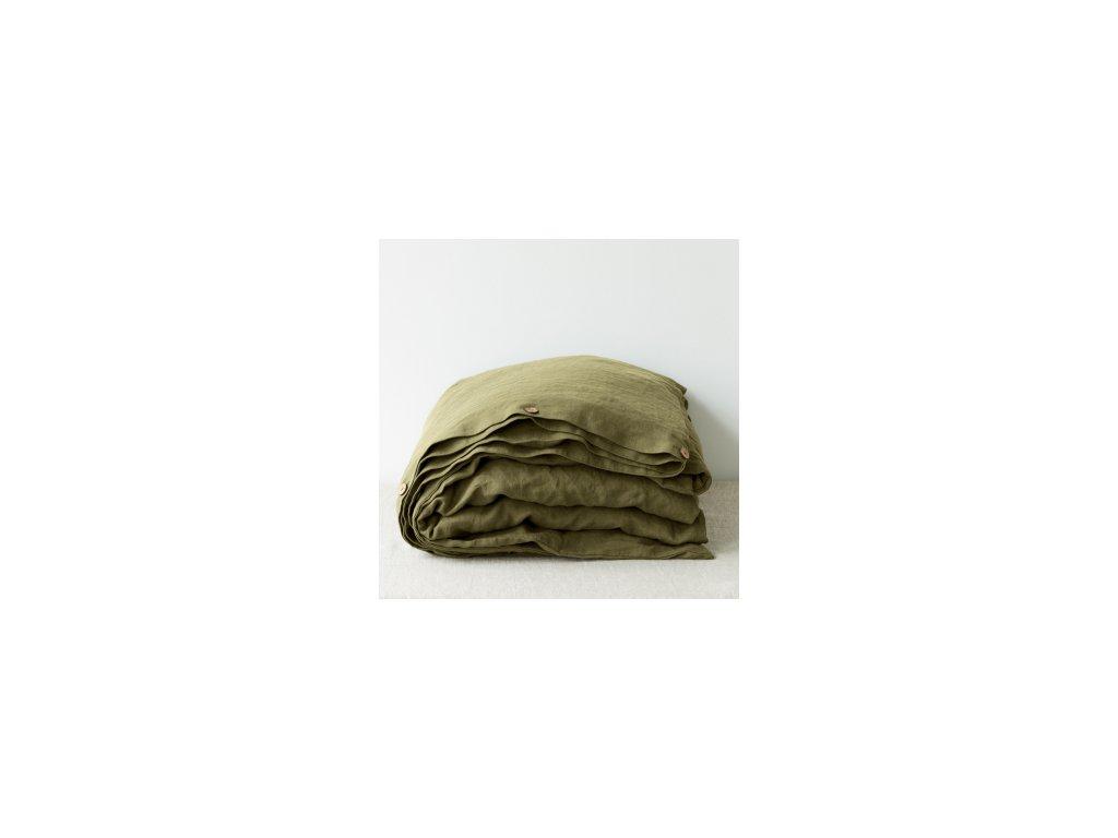 Ľanové obliečky Martini Olive 140x200, 50x70