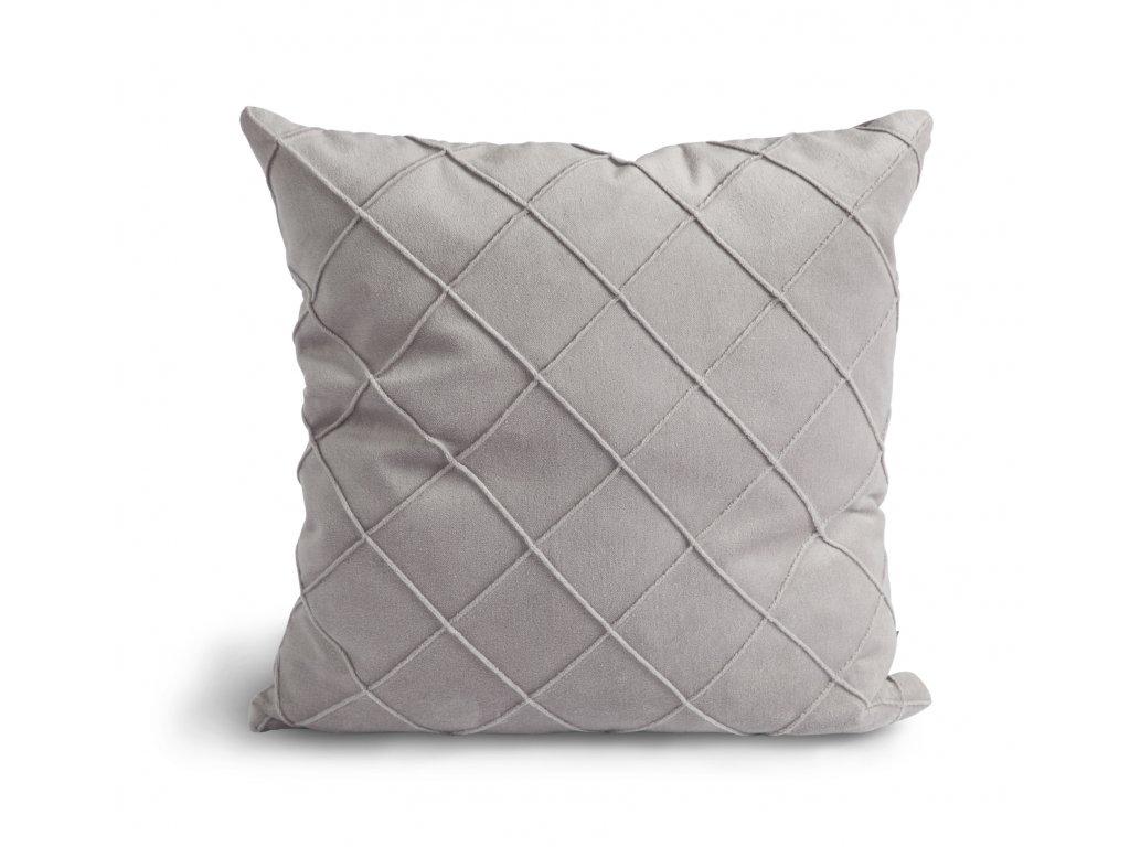 Povlak na vankúš Velvet Cushion Light grey 47x47