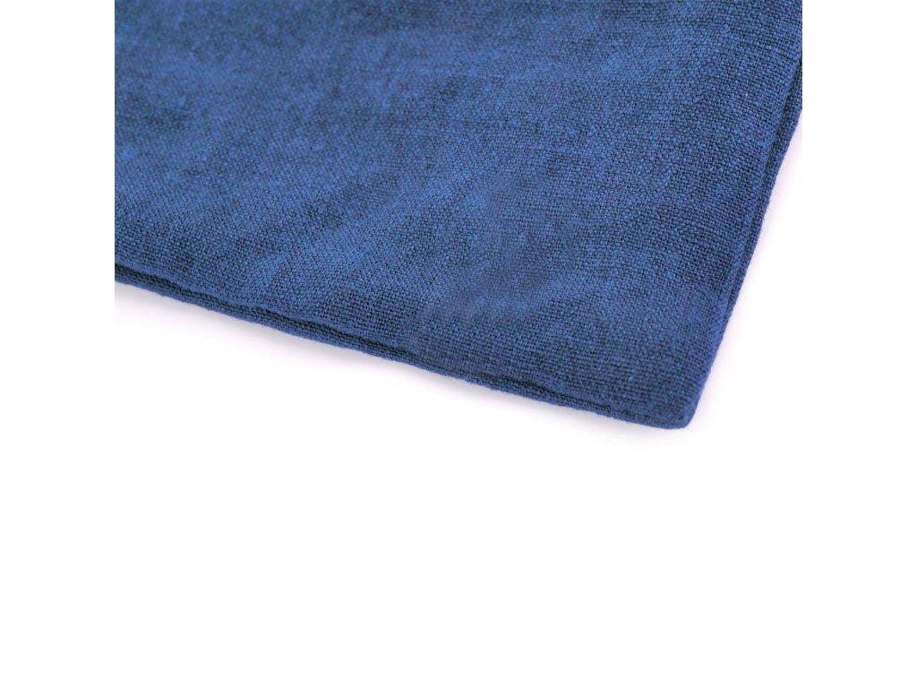 Ľanové obliečky Navy Washed 140x200, 70x90