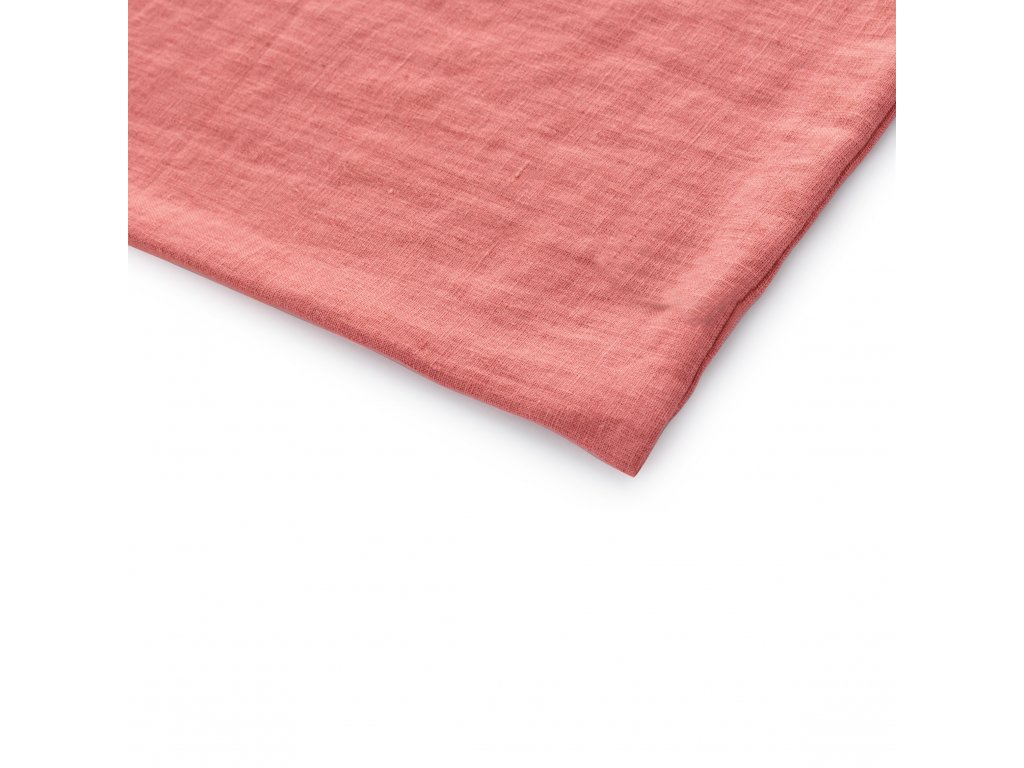 Ľanové obliečky Rustikálne ružové 140x200, 70x50