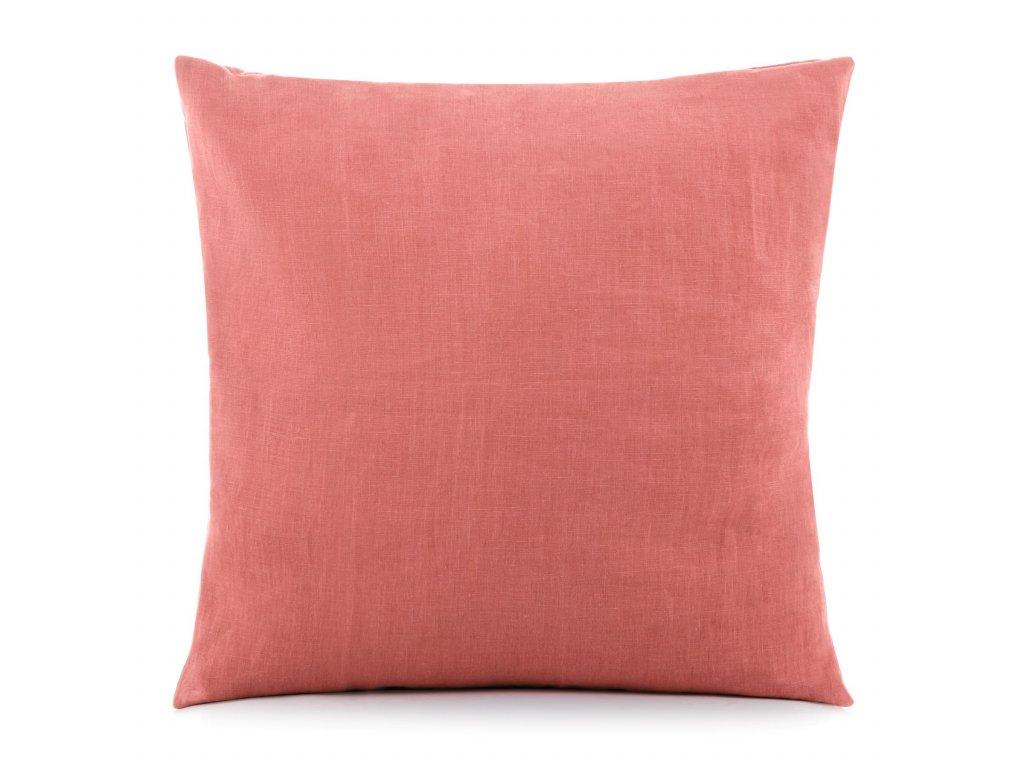 Povlak na vankúš Rustikálne ružová 50x50