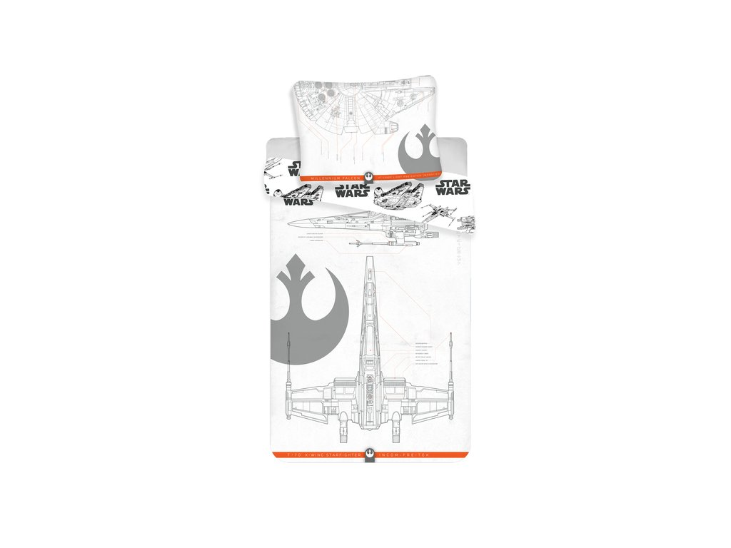 Obliečky bavlna Star Wars 9 , 140x200, 70x90 cm
