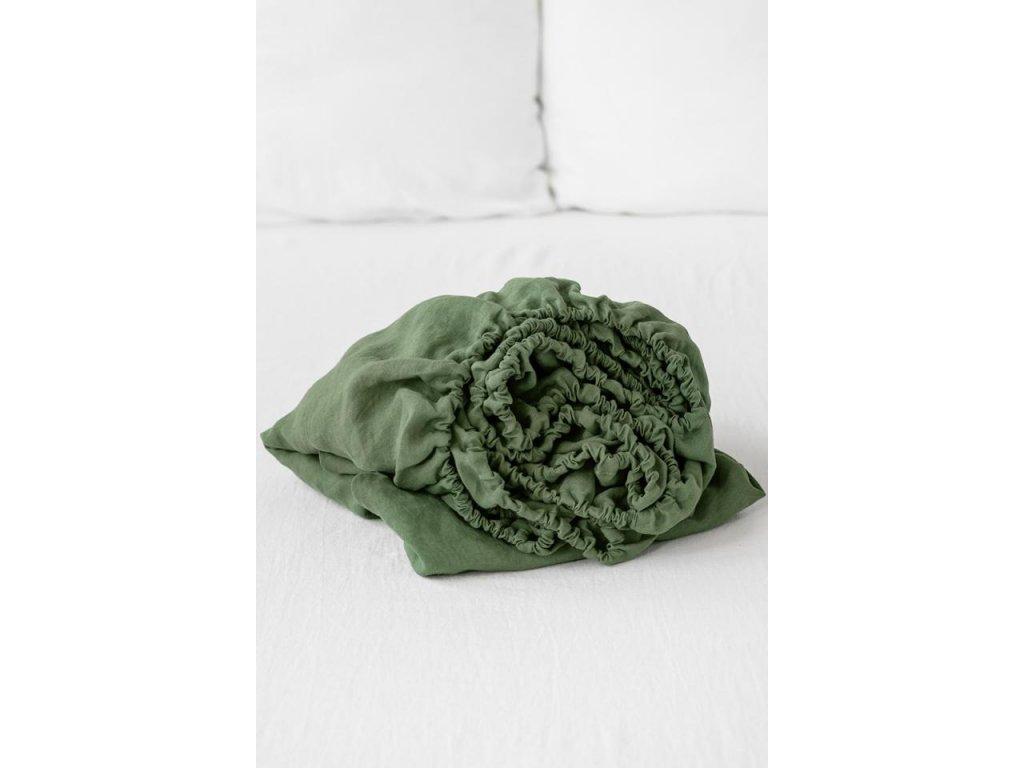Ľanové prestieradlo Rustikálne ružové 160x200x23cm